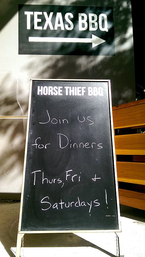 Horse Thief, along with the rest of Grand Central Market, is now open for dinner Thurs thru Sat