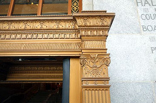 Beautiful architectural details have been restored throughout the historic building