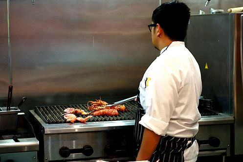 Get a whole live lobster grilled to perfection