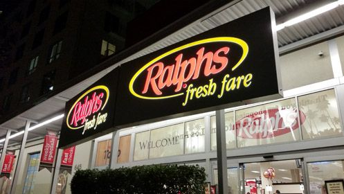 As part of Ralphs' $2.5 million remodeling upgrade, they finally replaced the exterior lighting in front of the store that have been burned out for as long as I can remember
