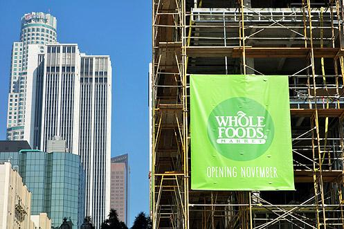 A new 41,000 SF Whole Foods store is opening in Downtown LA in early November of this year