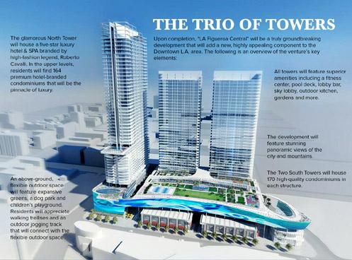 Three skyline-redefining towers will be added to Downtown LA