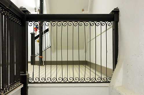 Another example of the original banisters restored