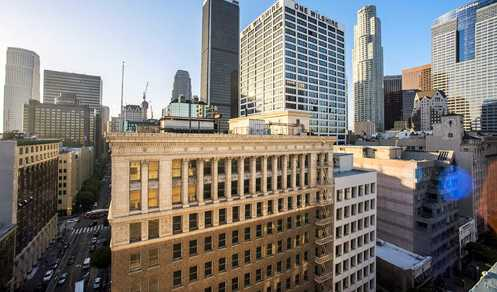 The Giannini Building sits in a strategic central location along 7th Street in bustling Downtown LA (Photo: LA Times)