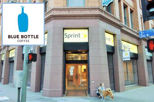 Blue Bottle Coffee will be opening at the corner of the Bradbury Building at 3rd/Broadway replacing the Sprint store