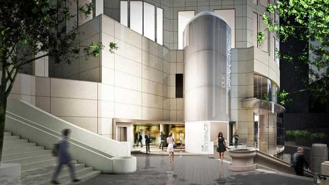 A new direct entrance for Skyspace LA will be built on the western side of the tower by the Bunker Hill Steps (Photo: OUE)