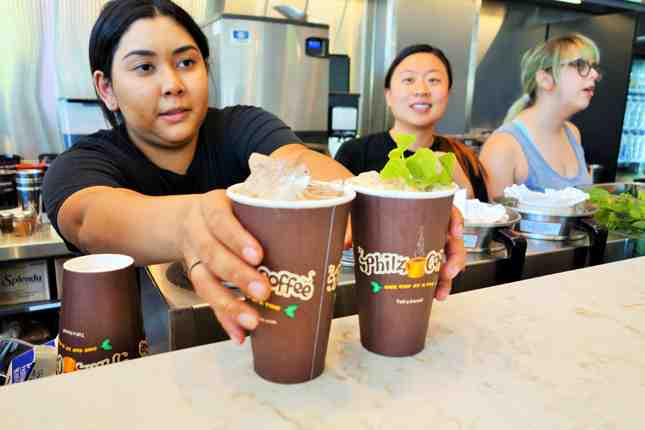 Philz Coffee is known for their iced mint mojito