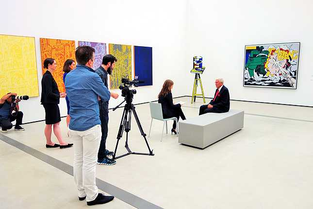 All eyes were on Eli Broad as his 2,000 art piece collection museum opens in Los Angeles