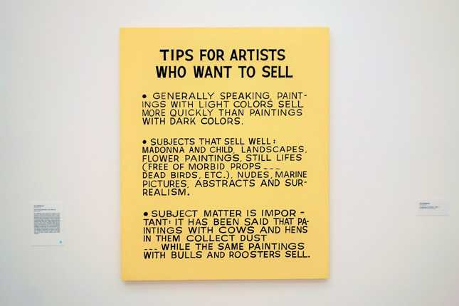 John Baldessari's Tips for Artists Who Want to Sell (1968) acrylic on canvas