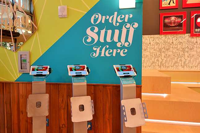 Order food-to-go upon entering, shop, then pick up your order before you leave