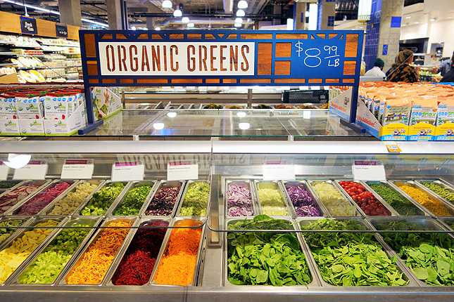 Every Wed, take $1.50 off a pound of organic greens