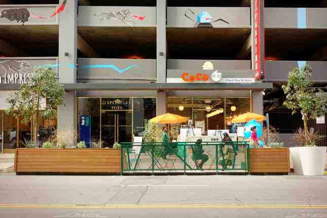 The new parklet helps support the new slew of businesses opening along Hope Street in South Park