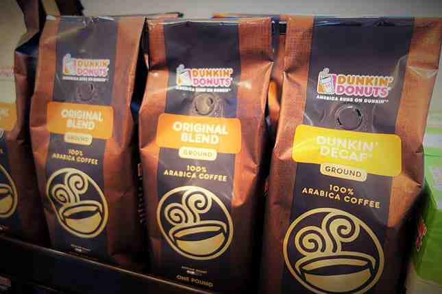 You can also buy Dunkin' coffee for home brewing