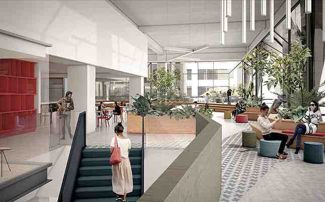 The main second level will have direct staircase access to the bar lounge on the ground floor (Photo: Cross Campus)