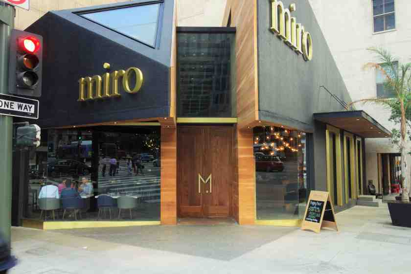 Miro is now open at the exciting corner of Wilshire and Figueroa in Downtown LA (Photo: Brigham Yen)