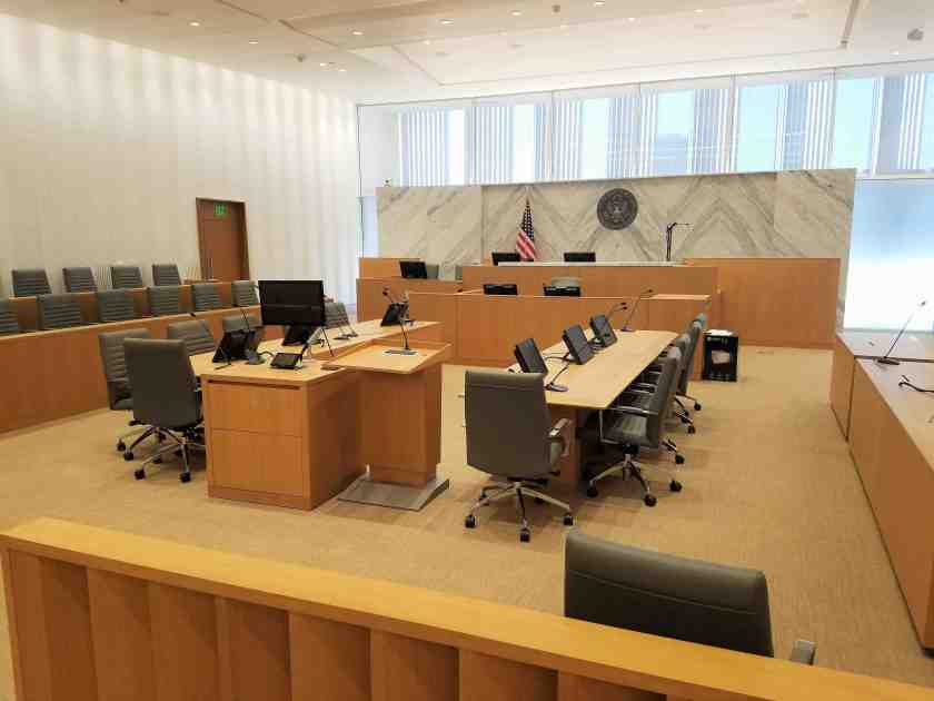 A standard courtroom for most cases