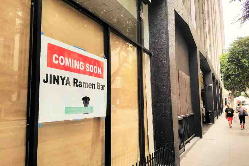Replacing the struggling Tossed salad, Jinya Ramen Bar will be serving up authentic Japanese handmade ramen
