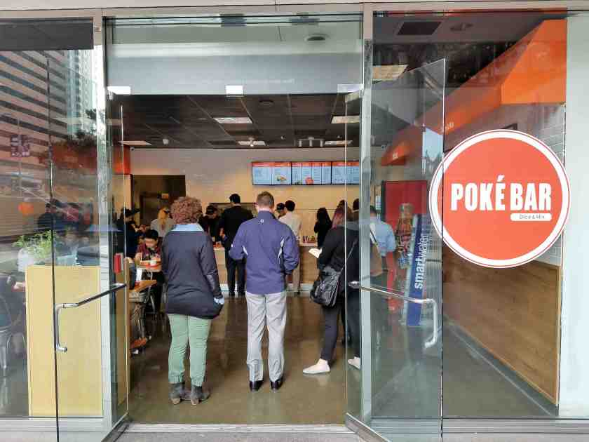 Poke Bar is one of the newer eateries that have opened at Two California Plaza