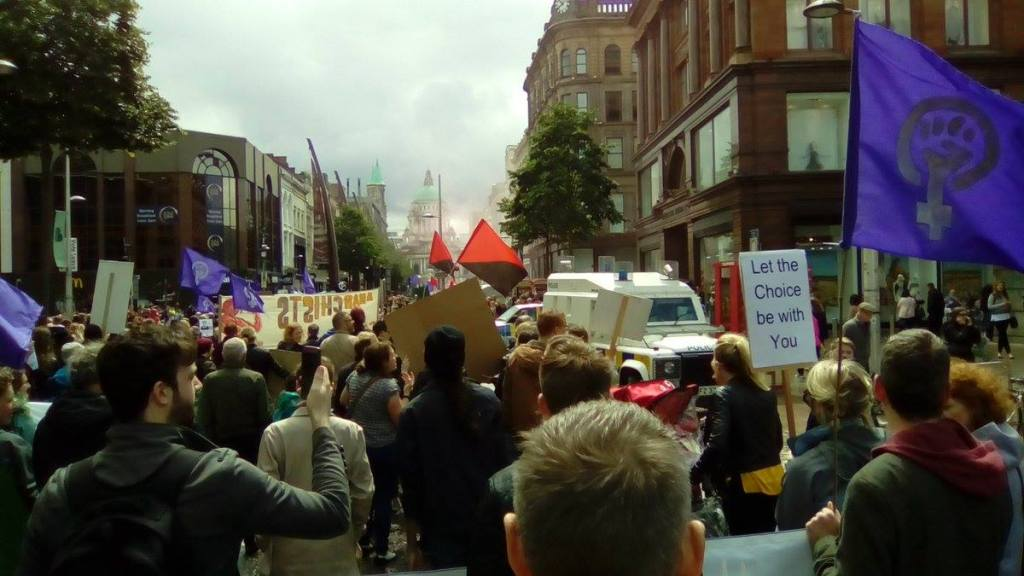 Rally for Choice in central Belfast. Credit: Ashley Jones