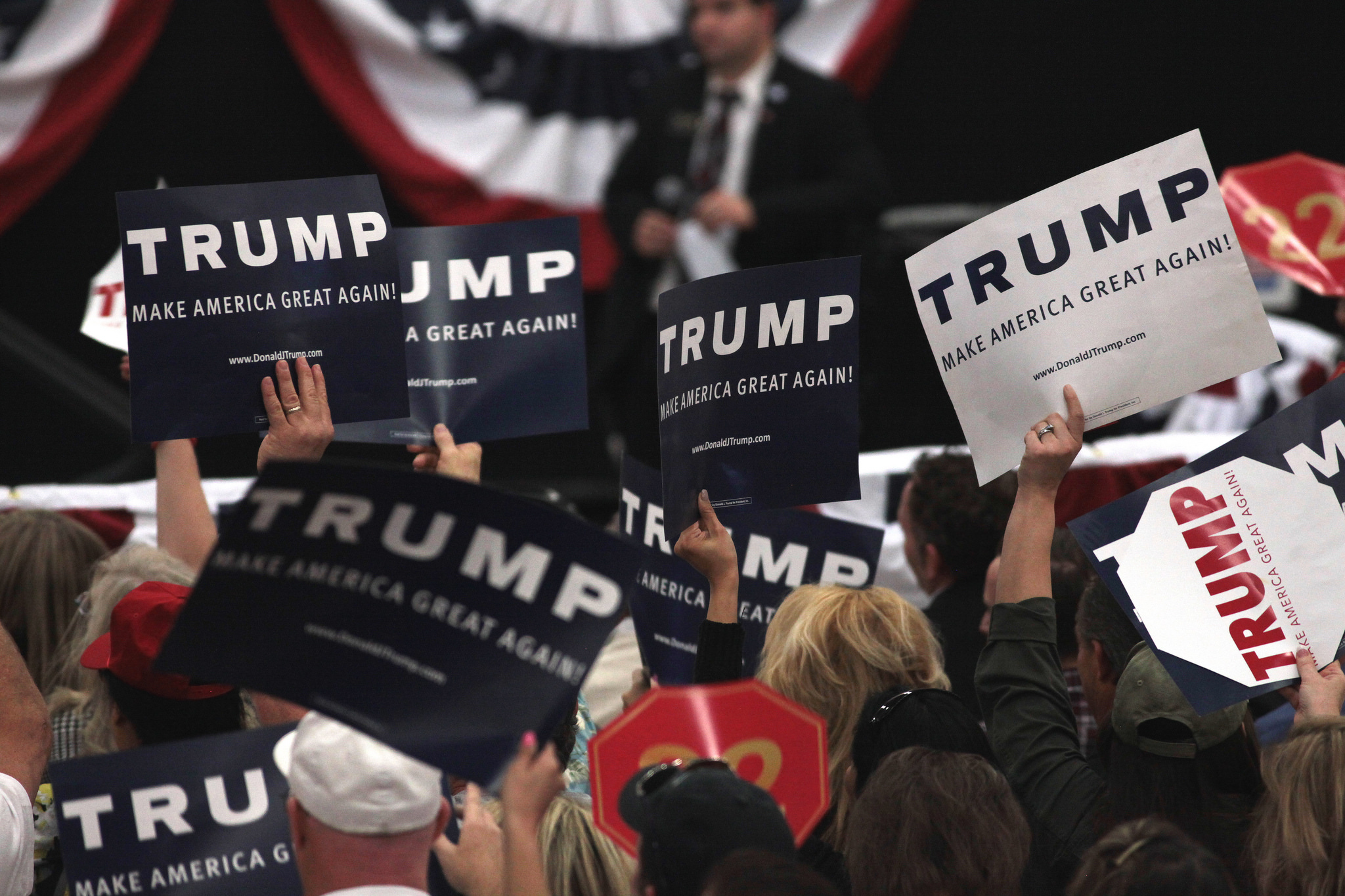 A Trump rally in Las Vegas. Photo credit: flickr user Gage Skidmore https://www.flickr.com/photos/gageskidmore/25218962886/ Creative Commons license: https://creativecommons.org/licenses/by-sa/2.0/