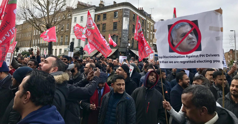 IWGB protest against congestion charge