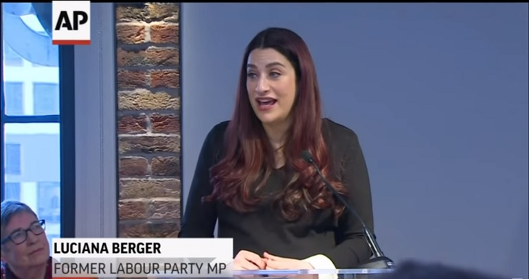 Luciana Berger announcing Labour Party split