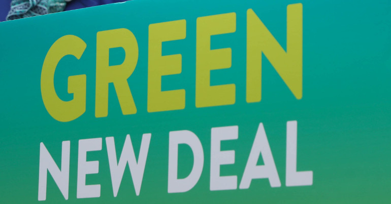 Green New Deal banner
