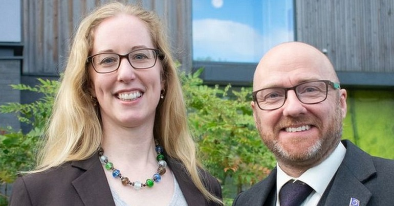 Lorna Slater and Patrick Harvie - Scottish Green Party co-leaders
