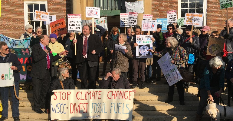 West Sussex divestment demonstration