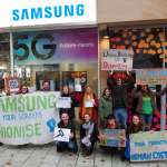 Samsung union-busting confronted by UK-wide student protests