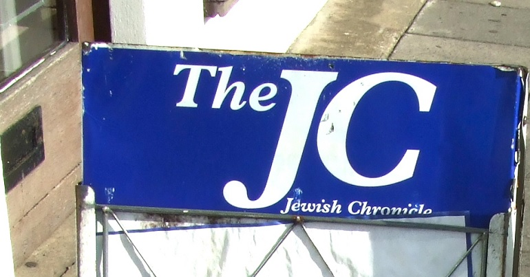 Newsstand with a Jewish Chronicle heading