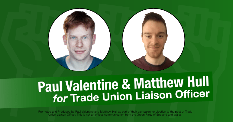 Paul Valentine and Matthew Hull election campaign graphic