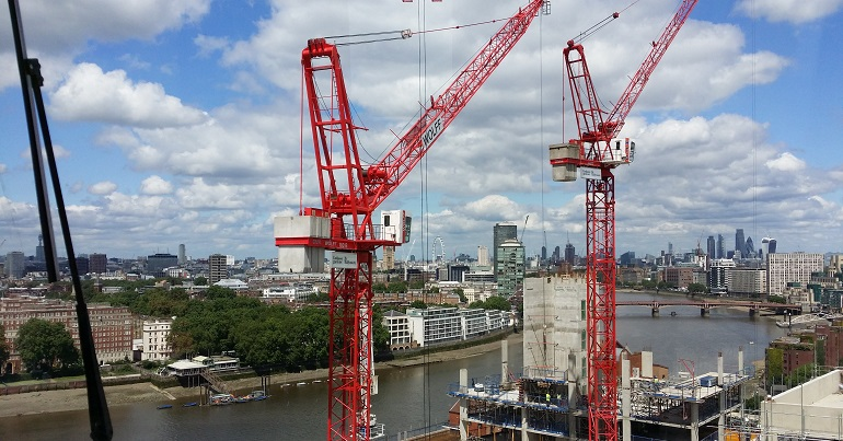 Construction of buildings in London