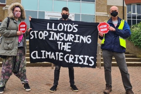 Climate campaigners demand Lloyd's stop insuring coal mines