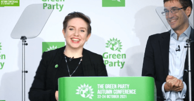 Carla Denyer and Adrian Ramsay make first speech to Green Party conference