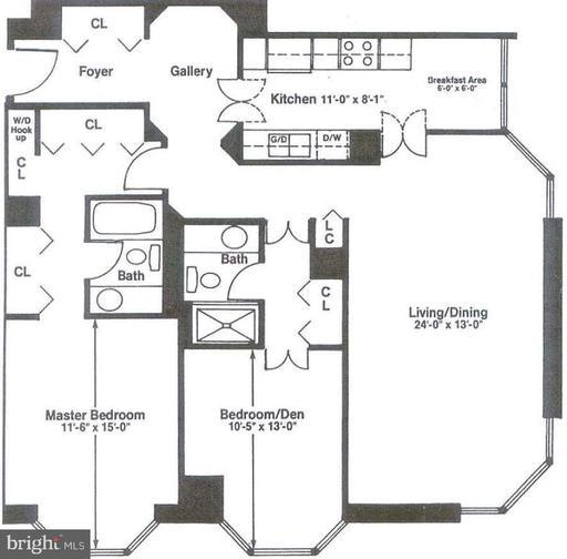 Property for sale at 2018-32 Walnut St #28h, Philadelphia,  Pennsylvania 19103