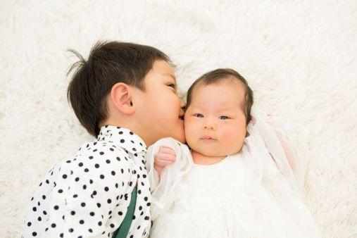 西宮市甲子園写真館フォトスタジオお宮参り赤ちゃんニューボーンフォト