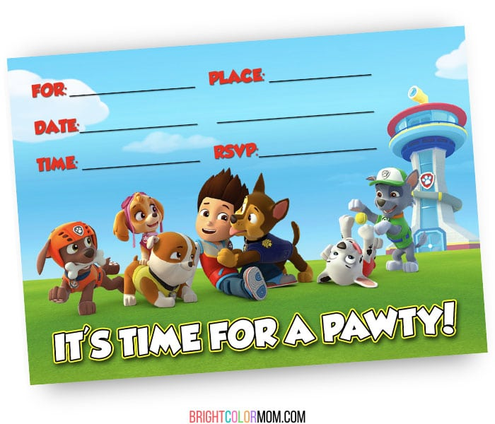 31 pup tastic paw patrol invitations to
