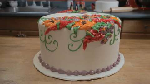 Enchanted Forest Christmas Cake