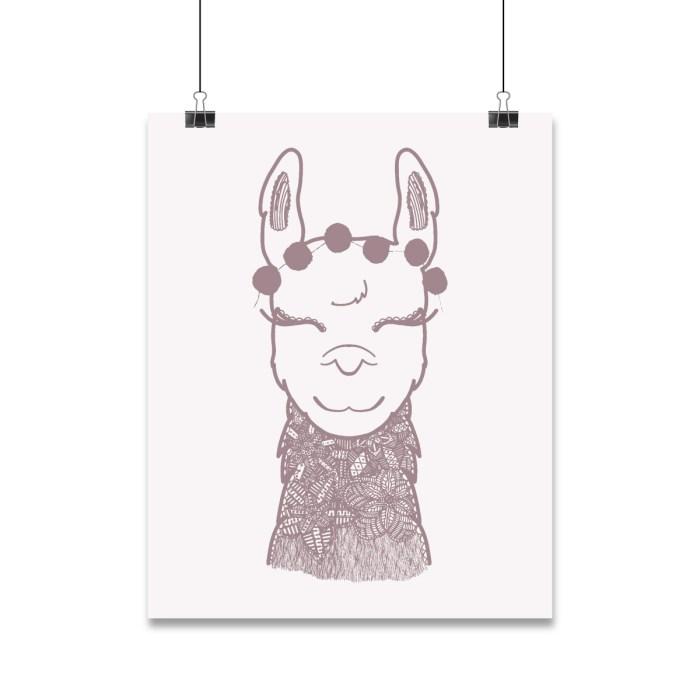 Alpaca mandala illustration
