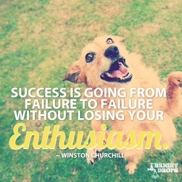 """Success is going from failure to failure without losing your enthusiasm."" ~Winston Churchill"