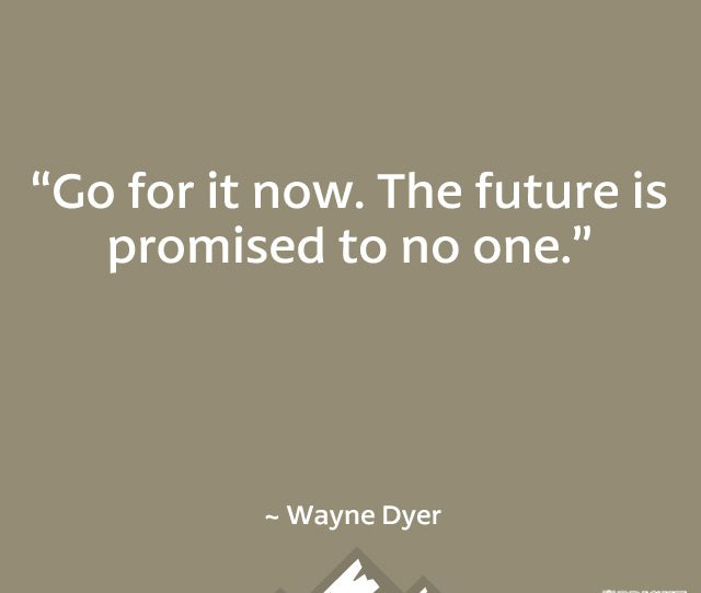 The Future Is Promised To No One
