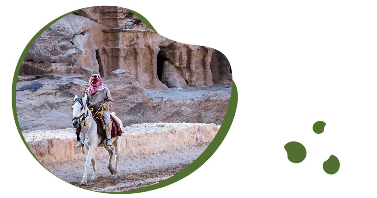 Ruiter in de woestijn