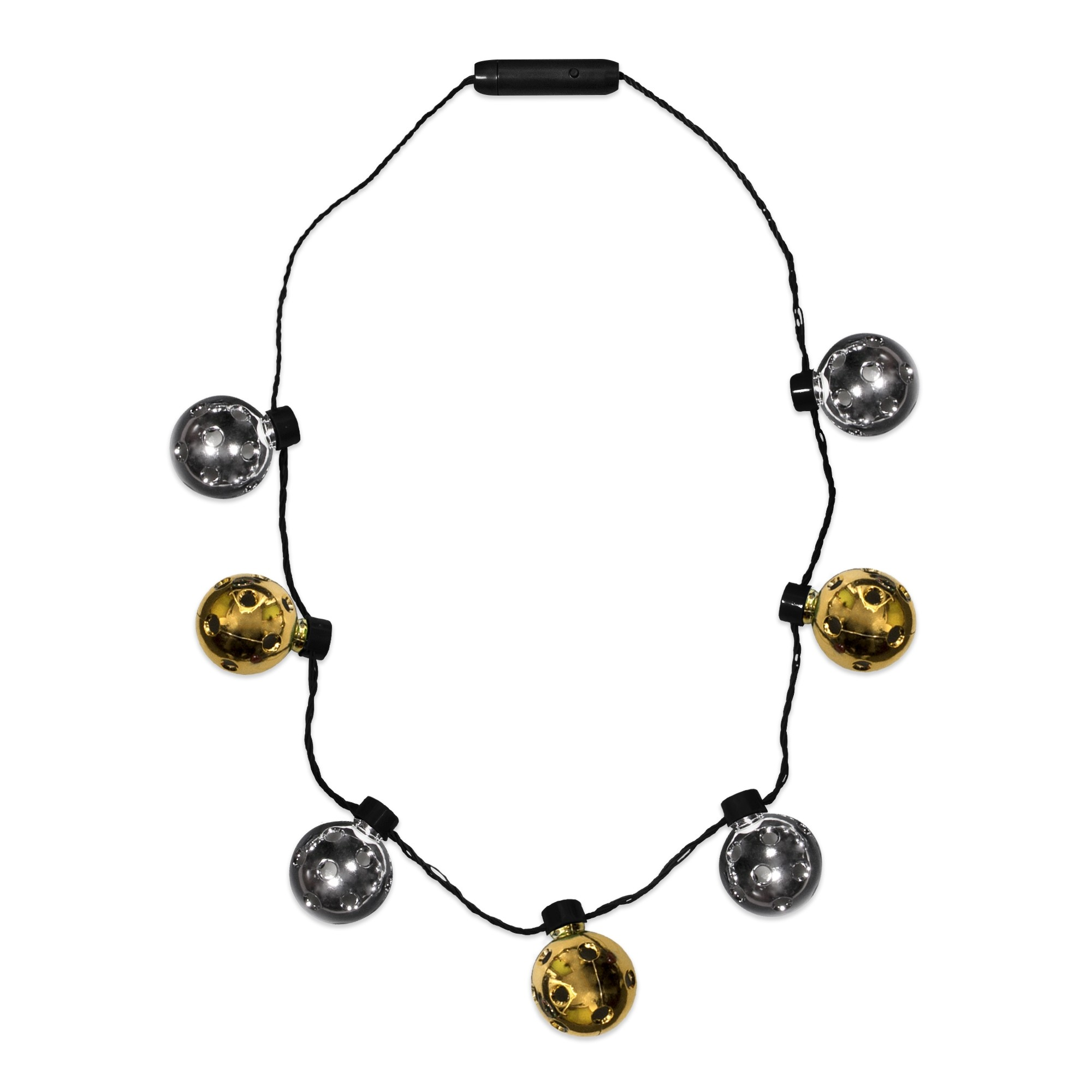 Led Gold Amp Silver Disco Ball Necklace