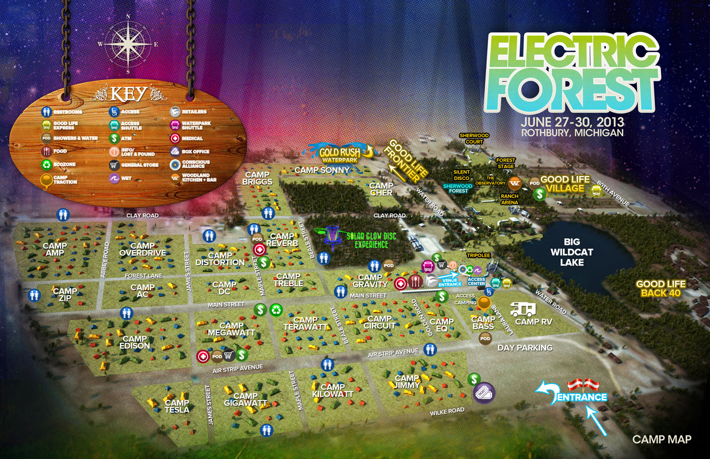 Electric Forest Map Electric Forest Camp Map ⋆ BYT // Brightest Young Things
