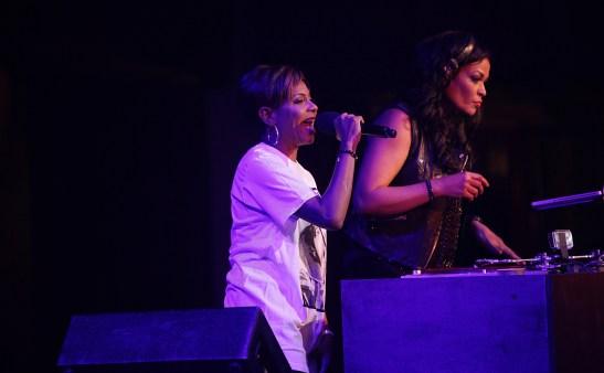 MC Lyte and DJ Beverly Bond at Rock Like a Girl - April 5, 2014. Photo - Jati Lindsay