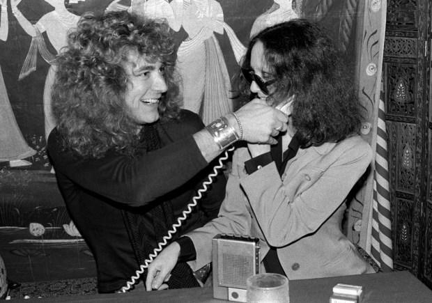 robert plant and lisa robinson.NYC.Jan.1976.creditBobGruen