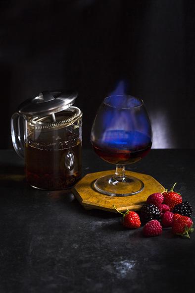 uk shot - cocktail - winter berry blazer