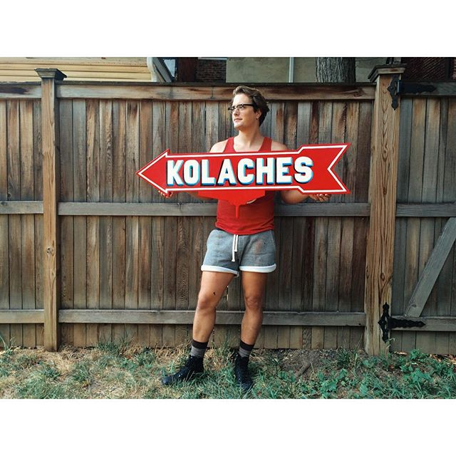 Martin Swift & Kolache sign from @GoKateShoot