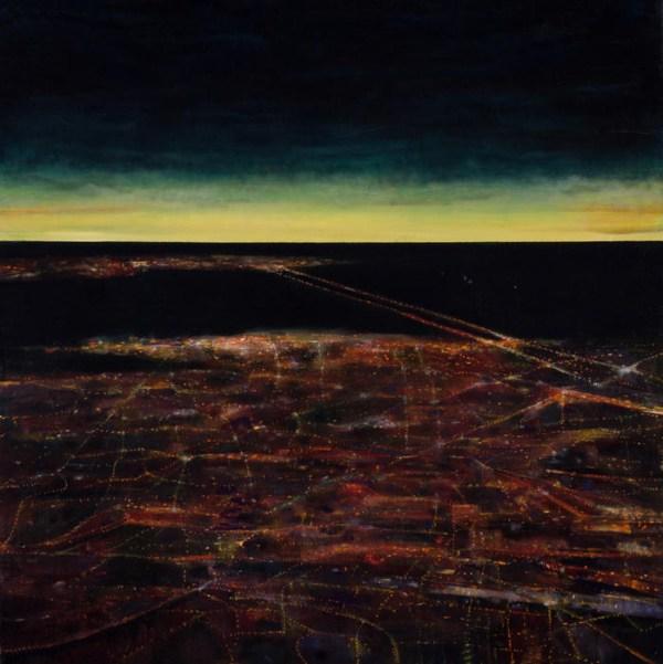 Glittering Tide, 2016, oil no canvas, 44 x 44 inches